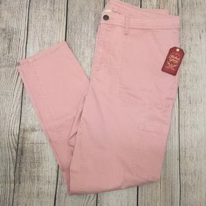 Faded Glory Cargo Jeans Size 16 Pink